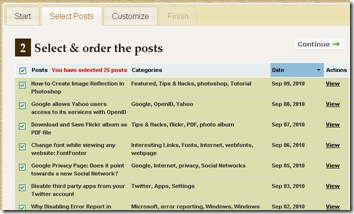 select and order the post