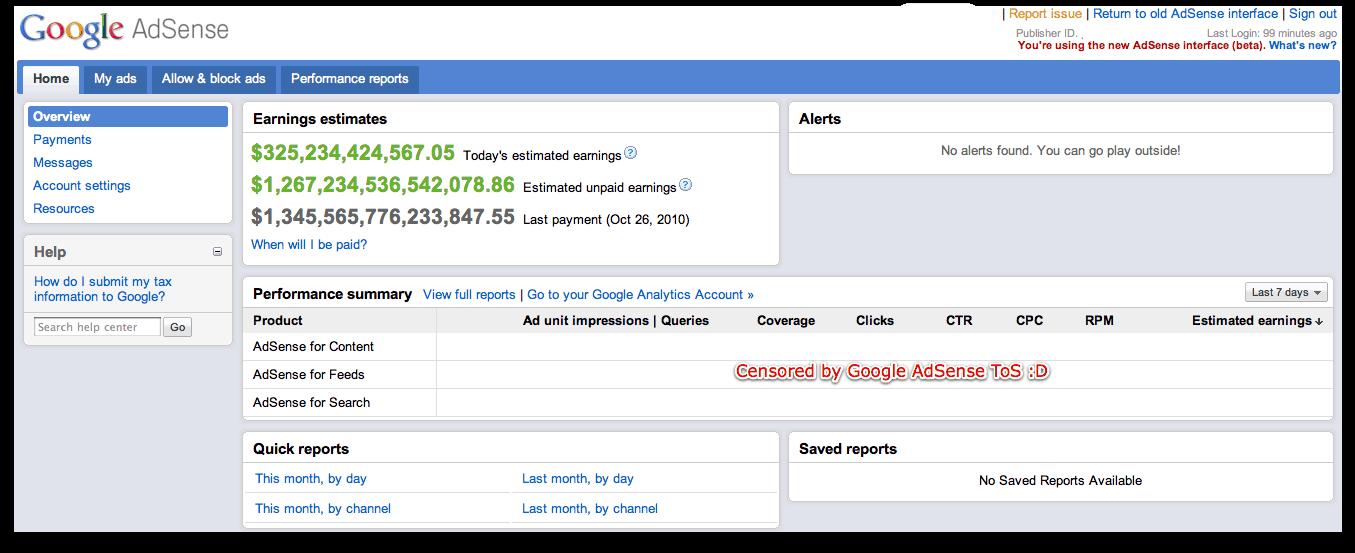 Google Rolls Out NEW AdSense Interface! [Screenshots and