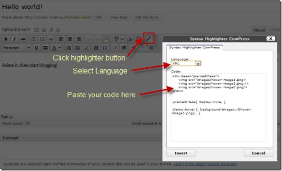 Syntax Highlighter Compress
