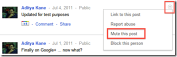 mute post