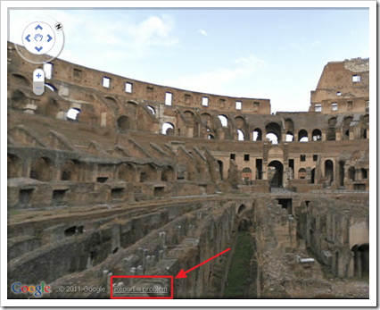 Report objectionable images in Streetview