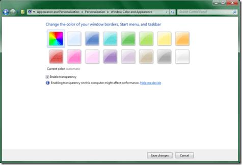 Windows 8 Aero Automatic Colorization