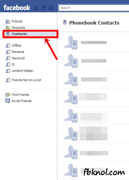 facebook phonebook