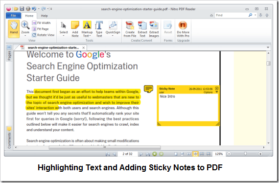 Windows] Edit and Modify PDF Files with Nitro Reader