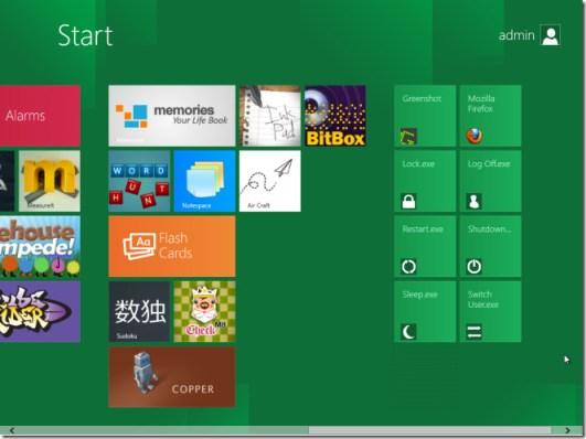 Add shortcuts to Metro UI