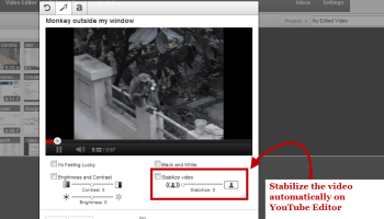 How to Stabilize Shaky Camera Motions on YouTube Videos