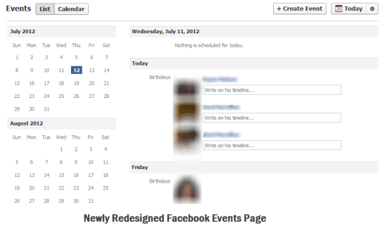 Facebook Events Redesign