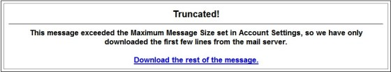 Manually download large messages
