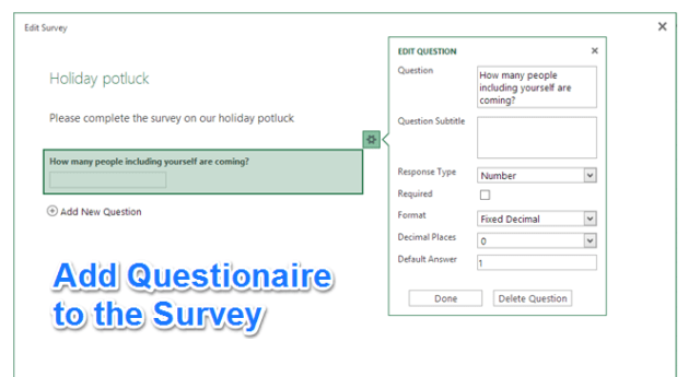 Add Questions to Excel Survey
