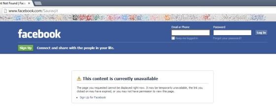 Facebook Public Profile Not Showing