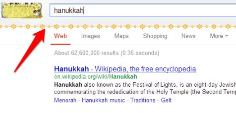 Hanukkah Google Easter Egg