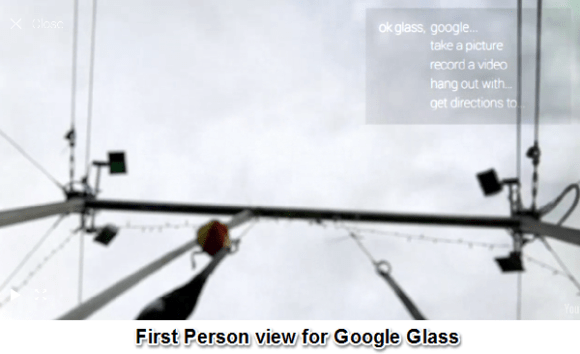 Google Glass first person