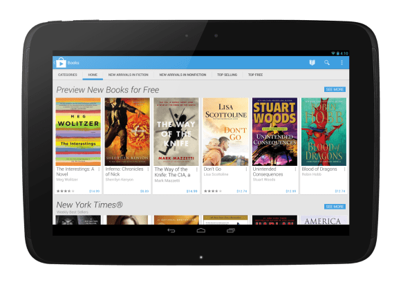 New Design Google Play on Tablet