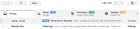 Gmail on desktop