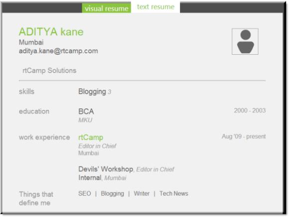 Text version of Resume made on Jobberspark.com