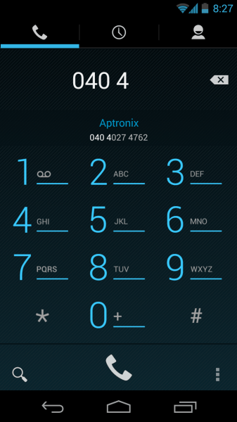 Autocompletion in Dialpad