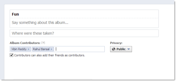 Shared Albums add users FB