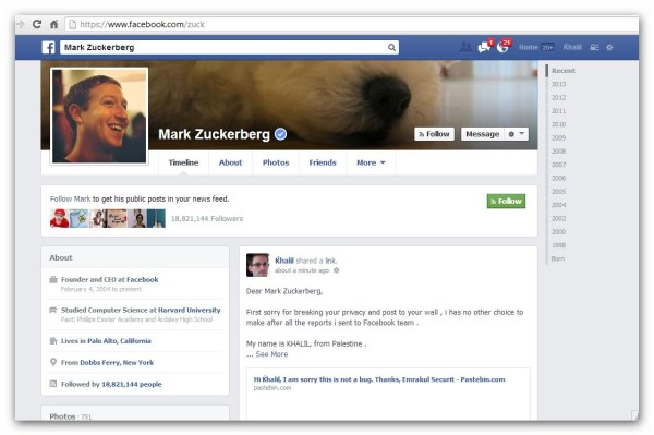 Zuckerberg Wall Bug Report - Copy