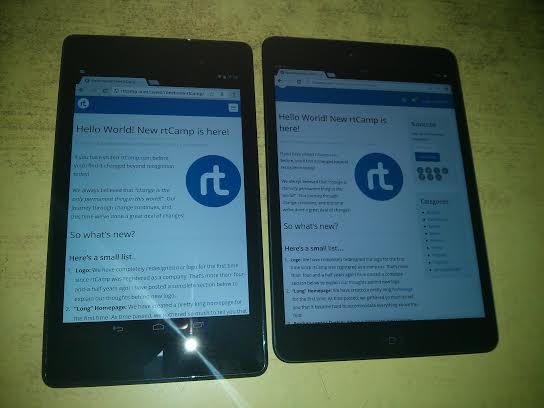 Nexus 7 vs iPad Mini Screens