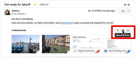 Save to Drive on Gmail