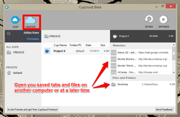 Save  and manage multiple collections of tabs and files you need