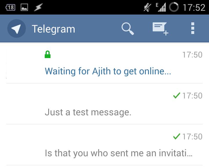 Telegram messenger - WhatsApp clone with better security options