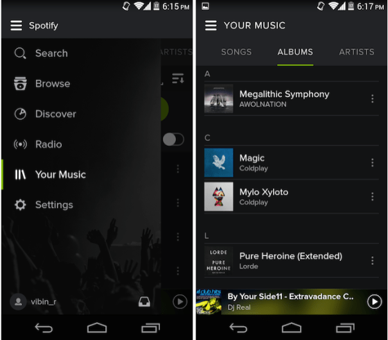 Spotify's redesign