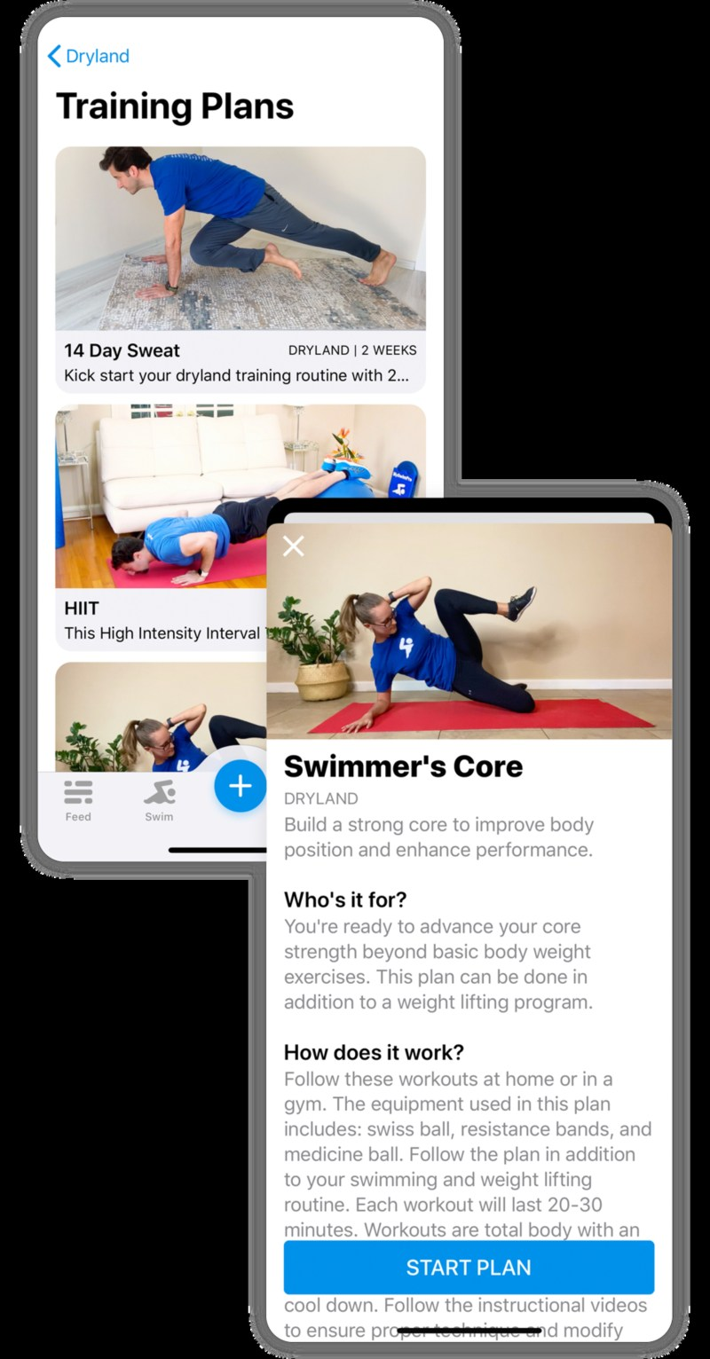No pool? MySwimPro has hundreds of dryland videos to help swimmers stay in shape.