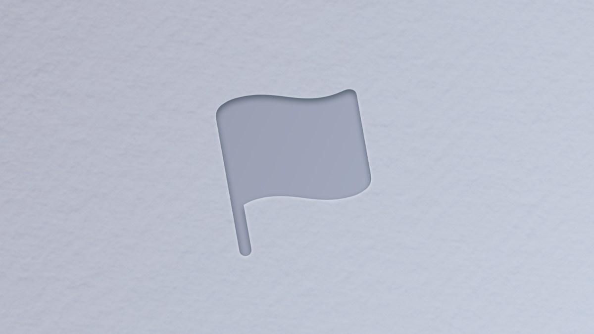 Flag symbol on grey background