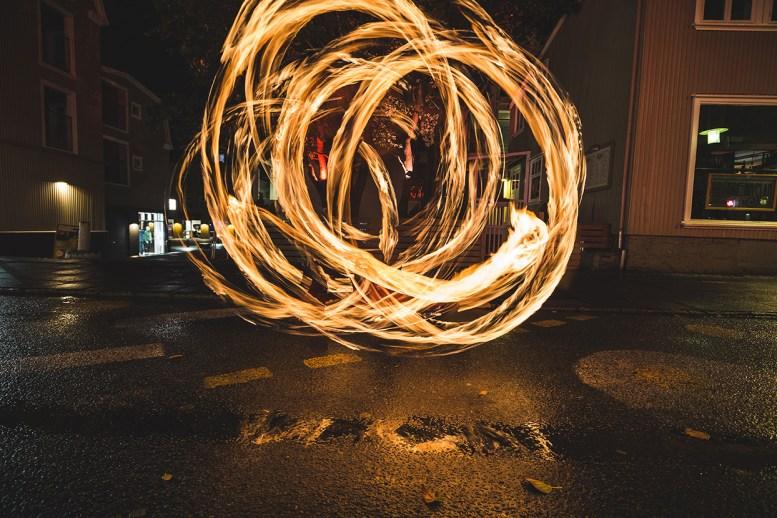 Iceland Fire Dancer