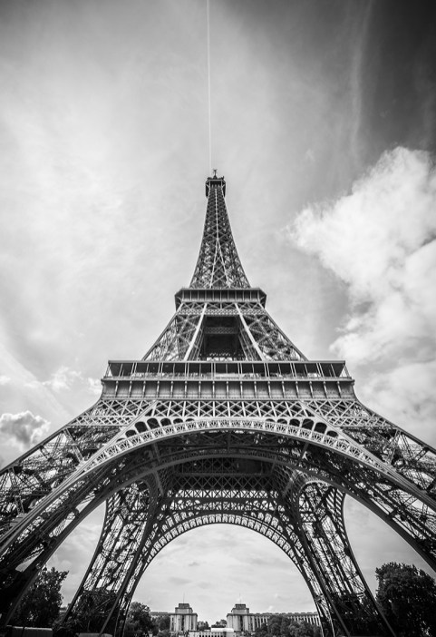 Eiffel Tower [Black & White]
