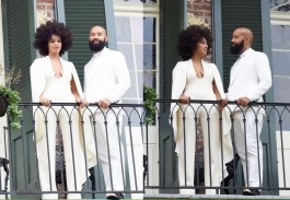 Solange and Alan Ferguson's at their wedding in New Orleans on Sunday, Nov. 16.