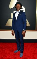 Aloe Blacc at the 57th annual Grammy Awards