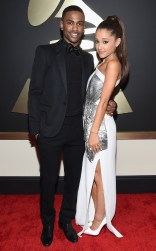 Ariana Grande and Big Sean at the 57th annual Grammy Awards