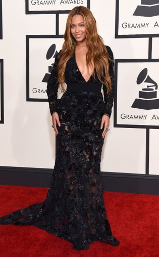 Beyonce at the 57th annual Grammy Awards