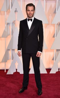Chris Pine at the 87th annual Academy Awards