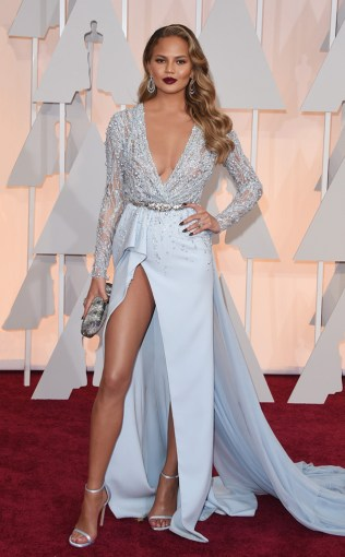 Chrissy Teigen at the 87th annual Academy Awards
