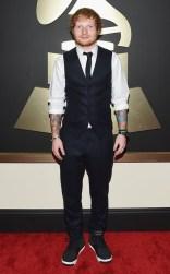 Ed Sheeran at the 57th annual Grammy Awards