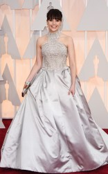 Felicity Jones at the 87th annual Academy Awards