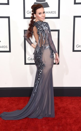Keltie Knight at the 57th annual Grammy Awards