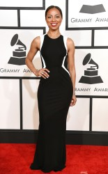 Nichelle Turner at the 57th annual Grammy Awards
