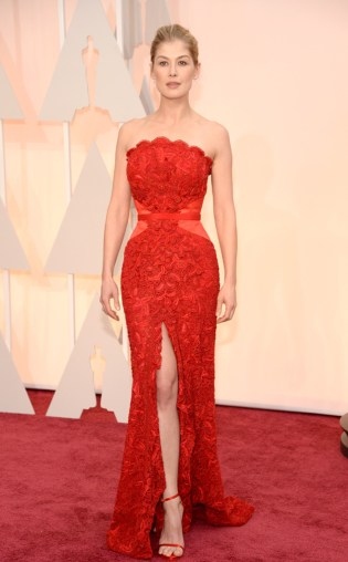 Rosamund Pike at the 87th annual Academy Awards