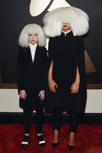 Sia at the 57th annual Grammy Awards