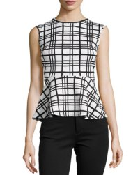 Casual Couture Plaid-Peplum top $59