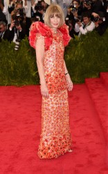 Anna Wintour at the 2015 Met Gala on May 4, 2015 at the Costume Institute Benefit Gala at the Metropolitan Museum of Art in New York.
