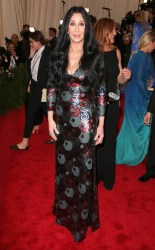 Cher at the 2015 Met Gala on May 4, 2015 at the Costume Institute Benefit Gala at the Metropolitan Museum of Art in New York.