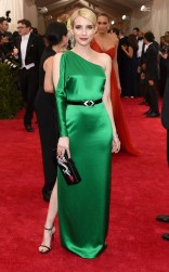 Emma Roberts at the 2015 Met Gala on May 4, 2015 at the Costume Institute Benefit Gala at the Metropolitan Museum of Art in New York.