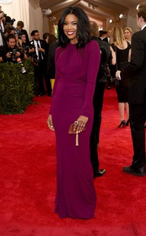 Gabrielle Union at the 2015 Met Gala on May 4, 2015 at the Costume Institute Benefit Gala at the Metropolitan Museum of Art in New York.