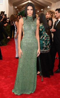 Kendall Jenner at the 2015 Met Gala on May 4, 2015 at the Costume Institute Benefit Gala at the Metropolitan Museum of Art in New York.