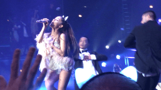 Ariana Grande performs at Chicago's United Center for her Honeymoon Tour on 10/2/2015. [Photo by Devin' Torkelsen]